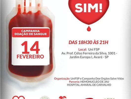 Campanha de Doação de Sangue na UniFSP!